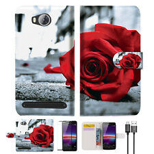 Blooming Rose Wallet TPU Case Cover For HUAWEI Y3 II 2 -- A011