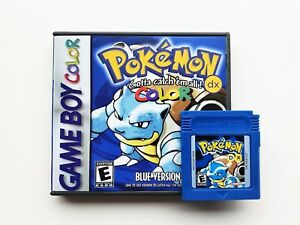 Pokemon Blue DX FULL COLOR Case / Game (Nintendo Game Boy) GBC / GBA (US Seller)
