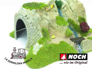 NOCH 02200 - H0 Túnel recto de 1 vía decorado - NUEVO