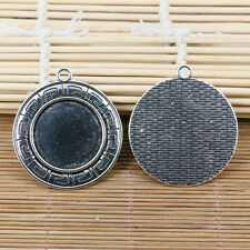 2pcs tibetan Silver Tone Lacework Oval Picture Frame H3996