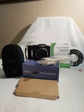 Canon PowerShot SX160 IS 16.0 MP Camera - BLACK  WORKS!