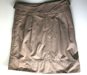 Banana Republic Heritage Skirt 6 Brown Buckle Casual Pockets Belted Belt