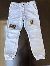 Authentic Aeronautica Militare Boys Light Blue Cargo Pants Adjustable Waist 10Y