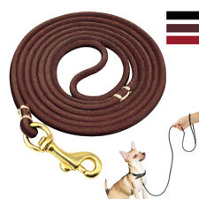 4ft/6ft Genuine Leather Dog Leash for Small Medium Pet Dog Training Walking lead