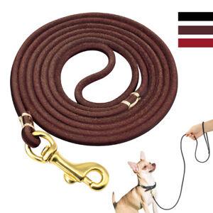4ft/6ft Genuine Leather Dog Leash for Small Medium Pet Dog Training Walking lead