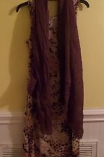 LOT OF 2 Floral Animal Print Dress Size Medium (8/10) and Scarf