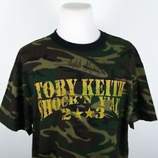 Toby Keith SIGNED 2003 Shock'n Y'all Tour Chuck Goff Autographed T-Shirt XL