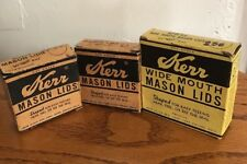 Vintage Lot of 28 Kerr Mason Lids Including 12 Wide Mouth