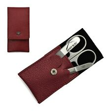Giesen & Forsthoff's Timor 3-piece Premium Manicure Set in Red Leather Case