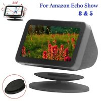 New Magnetic Speaker Docks 360°Adjustable Tilting Stand for Amazon Echo Show 5/8