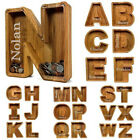 Wooden Piggy Bank Funny Letter/Guitar Coin Saving Money Box Kids Adults Gift AU
