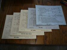 1960 62 67 69 CADILLAC ELDORADO DEVILLE FLEETWOOD FRAME DIMENSION CHARTS - 5