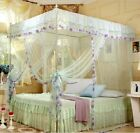 4 Corners Poster Canopy Bed Curtain Mosquito Net For Single Queen King