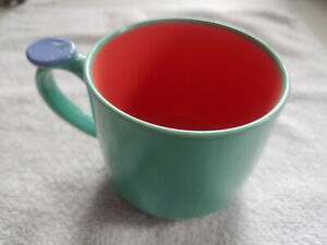 Excellent Lindt Stymeist Colorways Thumbprint Mug - Green / Salmon / Periwinkle