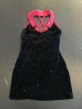 Black Dress with Red Collar Dance Costume  - Adult Medium