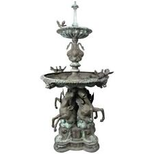 Bronze Garden Fountain with Lionhead Spout Water Feature
