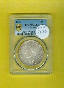 Canada-Coin: Dollar 1939 Grade MS-63 by PCGS,Fabulous orig-tone