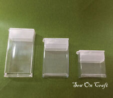 Bead Craft Rectangle Tube Flip Top Tic Tac Plastic Box Container Storage