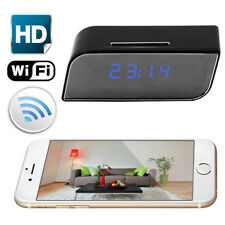 Wireless Wifi Alarm Clock Electronic Clock Spy Hidden Camera IR Motion Detection