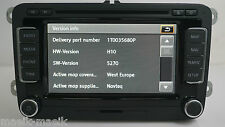 "GENUINE VW RNS 510 LED VERSION ""P"" SAT NAV DVD MP3 1T0035680P 2017 V14 MAPS"