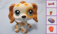 Littlest Pet Shop Dog Cocker Spaniel 344 w Free Accessory Authentic