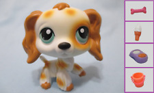 Littlest Pet Shop Dog Cocker Spaniel 344 and Free Accessory Lps Authentic