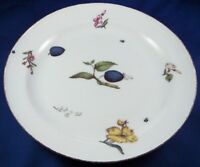 Antique 18thC Meissen Porcelain Woodcut Fruit & Flower Plate Porzellan Teller