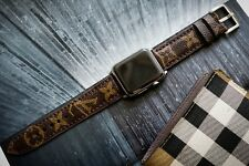 Handmade Leather LV Band Straps for Apple Watch Series 1,2 &3 38mm/ 42mm