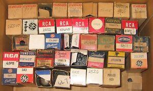 Lot Of  58 Vintage Radio and Television Vacuum Tubes