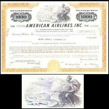 American Airlines Inc 1974 Stock Bond Certificate