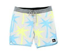 Quiksilver NEW Gray Mens Size 36 Drawstring Printed Board Surf Shorts $60 856