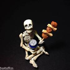 "Re-ment Pose Skeleton Rare 1/18 Scale Flexible Skull 3.75"" Holloween Toys"