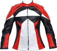 Women Motorcycle Leather Jacket Rider Racing CE Protection Motorbike Jacket