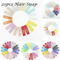20pcs Kids Girls Snap Hair Clips Sleeping Side Grip Clip Pins Hair Accessories