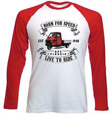 APE Piaggio rot Live to Ride-erstaunlich Graphic Tshirt S-M-L-XL - XXL