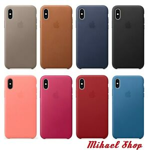 iPhone X 5,8″ Apple Original Genuine Leather Protective Case Cover