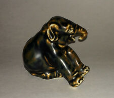 Modern Art Sculpture Royal Copenhagen Stoneware Elephant # 22740 Statue Figurine