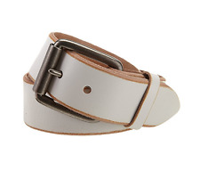 Bill Adler Men's Jelly Bean Belt, White, 30