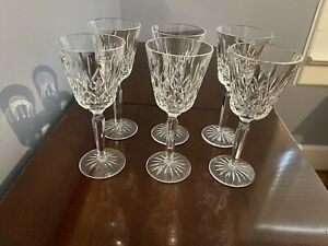 Waterford Lismore tall wine glasses-set of 6