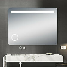 "LED Backlit Illuminated Mirror 32"". Wall Mounted for Bathroom, Makeup."