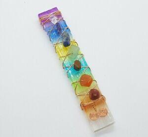 7 Chakra Crystal Wand Healing Stone Reiki Ritual Gemstone Quartz High Quality