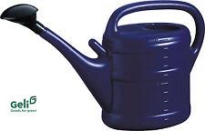 GELI Giesskanne 10l Liter Kunststoff du-blau mit Brause + Halter für Brausenkopf