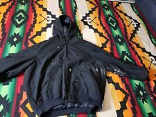 Mens CARHARTT YUKON EXTREMES J133 BLK ARTIC QUILT lined HOODED Jacket 2XLARGE