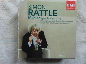 Sir Simon Rattle - Mahler Symphonies 1-10 - Box Set - 14 CD - FREE POST