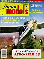 Vintage Flying Models Magazine January 1989 Midwest Products Aero-Star 40 m287