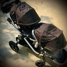 """CITY SELECT LUX By """"Baby Jogger"""" ~ Twin Tandem Double Stroller~ VG Condition"""