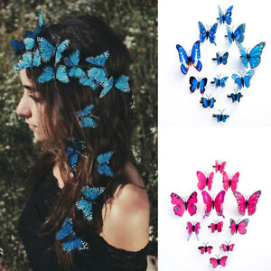 12PCS Butterfly Hair Clips Pins Bridal Hair Accessories Wedding Photography