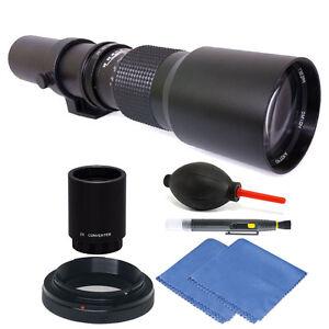 Vivitar 500mm/1000mm f/8 Telephoto Lens Kit for Nikon D3100 D3200 D3300 D3400