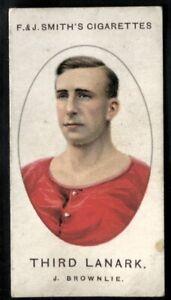 Tobacco Card, Smith, FOOTBALL CLUB RECORDS, 1922, J Brownlie, Third Lanark, #21