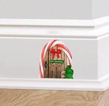 De Madera Elf Taller Puerta calcomanía Navidad Etiquetas De Pared Rodapié Santa Saco